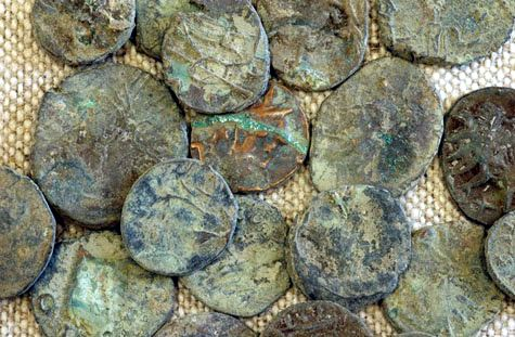 клад бронзовых монет III века