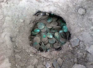 Клад медных монет 18 века