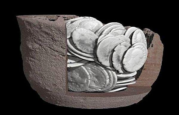Пример того, как выглядит клад на ренгеновской установке