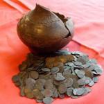 Клад 520 монет чешуи. Чеканка Михаил Федорович