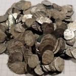 Клад монет чешую. Чеканка Михаил Федорович