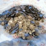 Найден клад монет чешуи