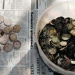 Фотографии клада советских монет