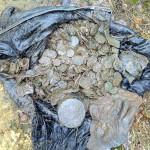 Клад медных монет номиналом 5 копеек