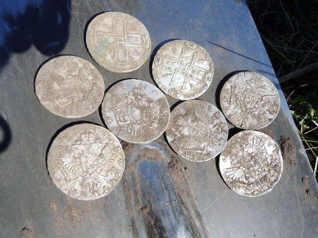 Клад царских рублей XXVIII века