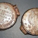 Форма для отлива фальшивых рублей