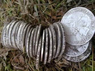 Клад царских рублей XXVIII-XIX века