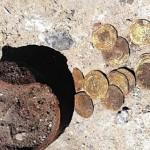 Клад старинных золотых монет