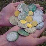Большая подборка кладов золотых монет