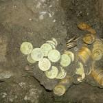 Большой клад золотых монет