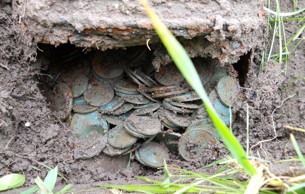 how to clean copper coins found in the ground