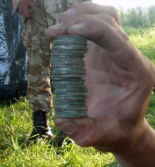 Вот такая стопка пражских грошей