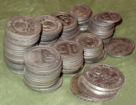 Фотографии клада монет РСФСР