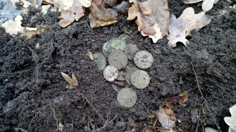 Кошелек царских монет, всего 19 штук