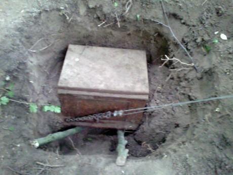 Зацепили найденный сейф