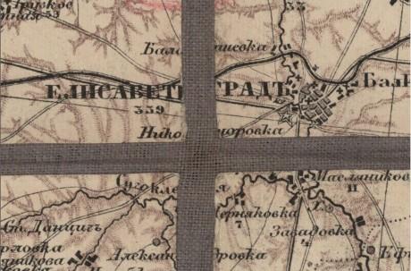 Специальная карта Европейской России - Кировоград (Украина и прилегающая территория)