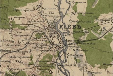 Специальная карта Европейской России – Киев (Украина и прилегающая территория)