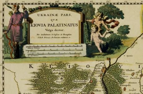 Карта части Украины (Киевское воеводство) Ukrainae pars, quae Kiovia palatinatus vulgo dicitur