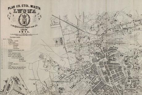 План города Львов 1871 года