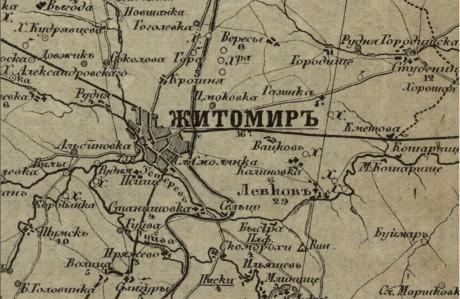 Специальная карта Европейской России – Житомир (Украина и прилегающая территория)