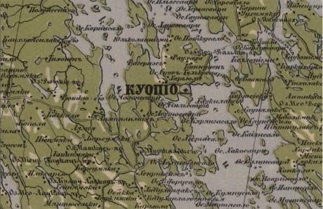 Специальная карта Европейской России – Куопио (провинция Финляндии)