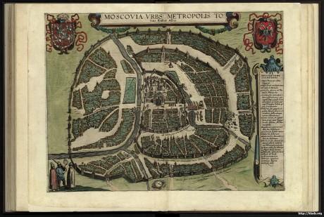Панорамная карта Москвы XVII века