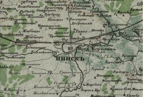 Специальная карта Европейской России – Пинск (Беларусь и прилегающая территория)