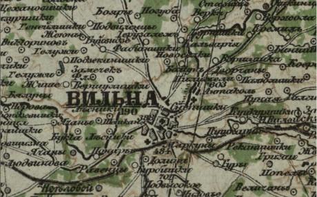 Специальная карта Европейской России - ВИЛЬНА