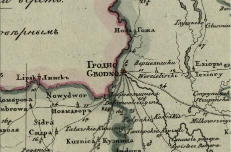 Генеральная карта Гродненской губернии