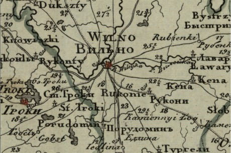 Генеральная карта Виленской губерни
