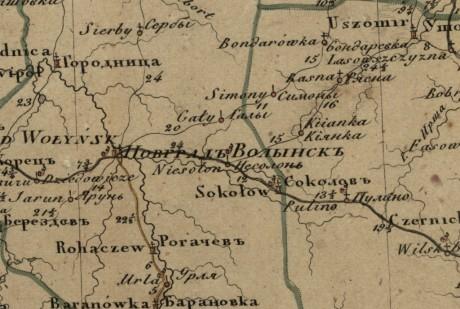 Генеральная карта Волынской губерни