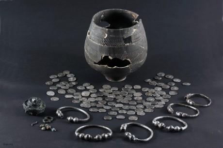Клад римского серебра найденного в Гааге