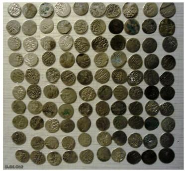 Клад серебряных монет времен Золотой орды