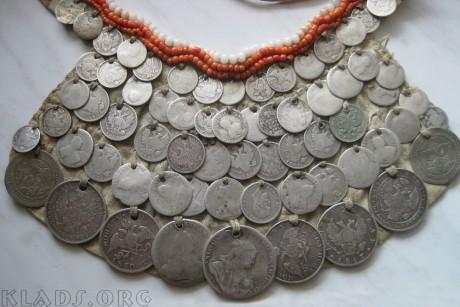 Монисто с монетами XVIII - начала XX веков