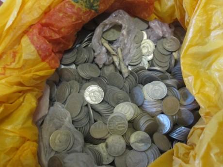 24 килограмма монет
