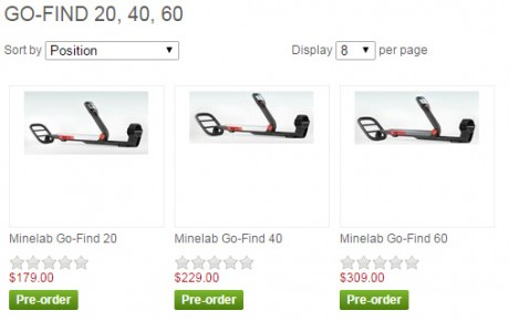Цены на Minelab Go-Find 20/40/60
