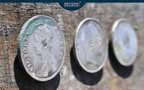 Поднят клад серебряных монет, стоимость которого оценивается в 34 млн фунтов стерлингов