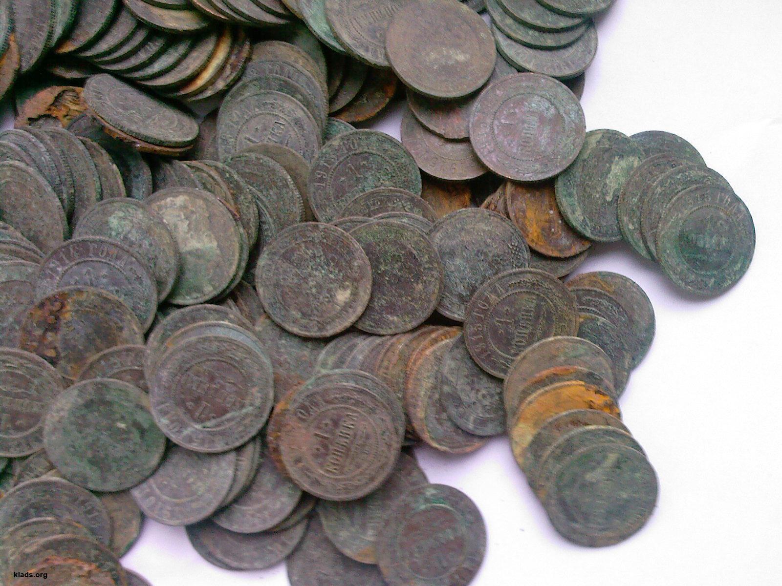 Клад медных монет николая ii :: находки кладов.