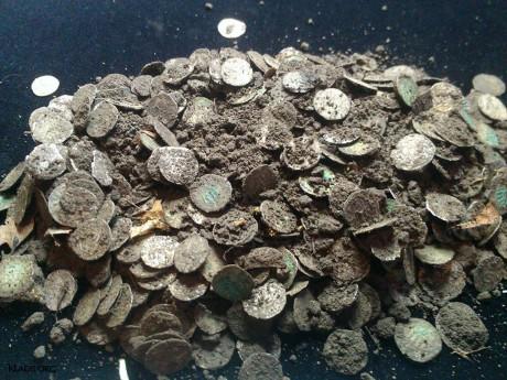 Клад серебряных монет из Румынии