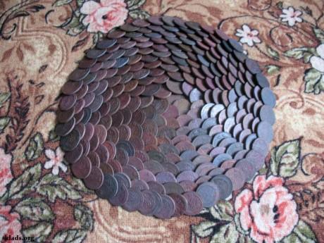 клад медных монет/a hoard of copper coins/skarb monet miedzianych
