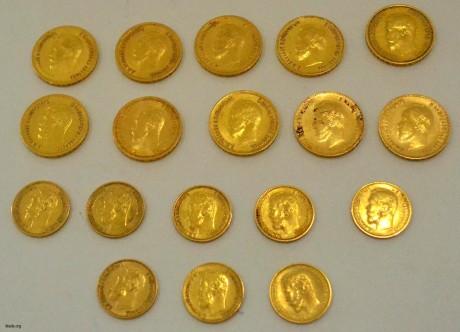 Клад золотых монет Николая II