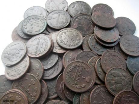 Клад медных монет времен Александра I