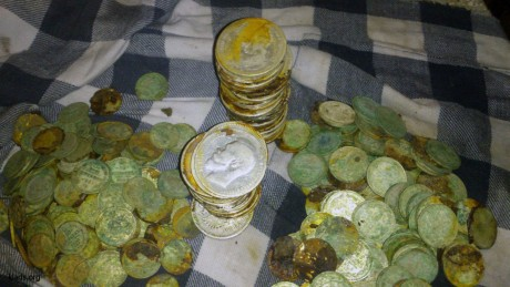 A hoard of silver coins of the times of tsarist Russia