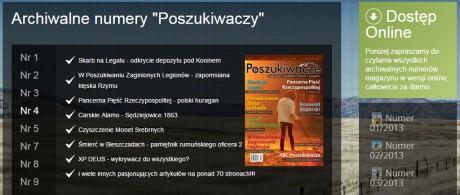"""Бесплатные онлайн доступ к 14 выпускам польского журнала """"Magazynu Poszukiwacze"""""""