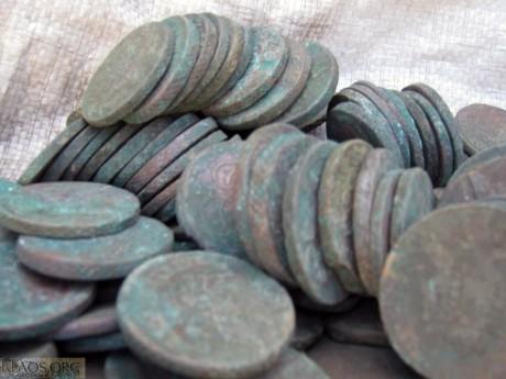 Клад 5 копеечных монет Елизаветы и Екатерины