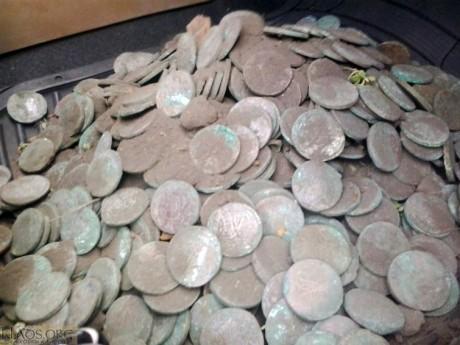 Клад монет 5 копеек