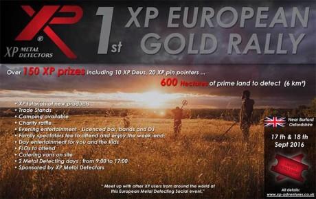 "Компания XP Metal Detectors представит свои новинки на "" The XP Sponsored Gold Summer Rally 2016 """