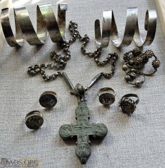 Клад украшений  14 век. Jewelry treasure, 14th century.