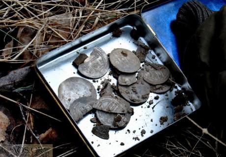Клад серебряных дирхемов (дирхамов)