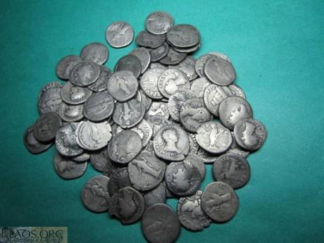 Небольшой клад римского серебра